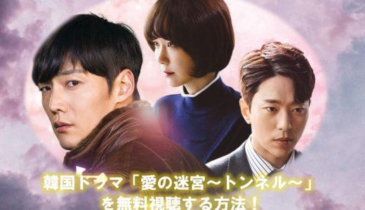 韓国ドラマ『愛の迷宮~トンネル~』の動画を全話無料で視聴する方法!