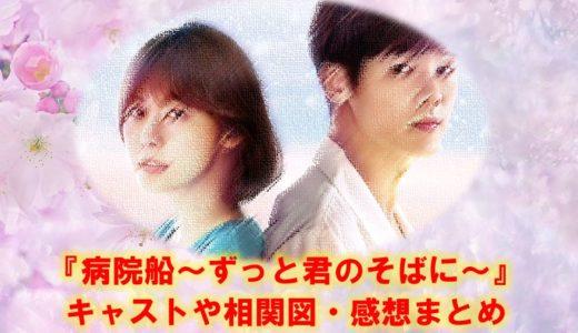 韓国ドラマ『病院船~ずっと君のそばに』の相関図やキャスト・感想や評判まとめ