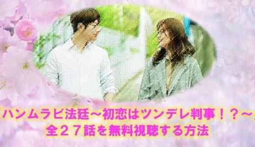 韓国ドラマ「ハンムラビ法廷~初恋はツンデレ判事!?~」見逃し動画を無料視聴する方法!